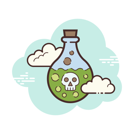Poison Bottle icon in Cloud