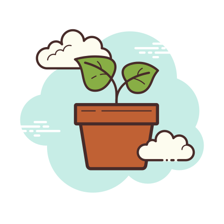 Potted Plant icon in Cloud