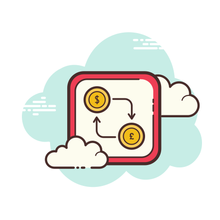 Dollar Pound Exchange icon in Cloud