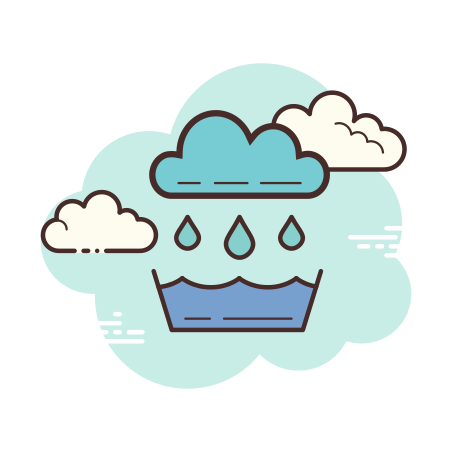 Rainwater Catchment icon in Cloud