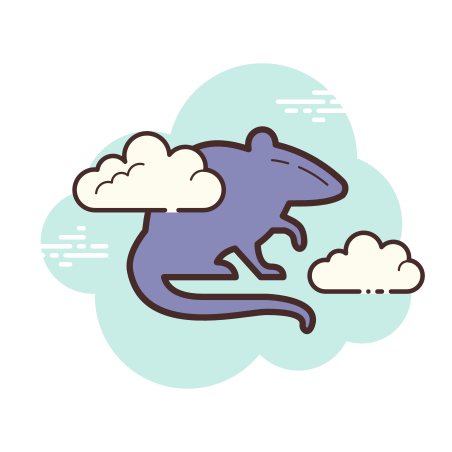 Rat Silhouette icon in Cloud