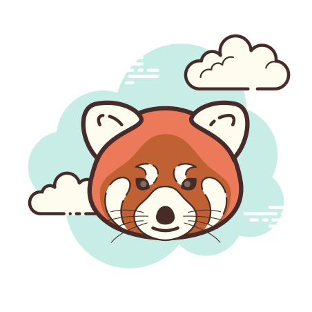 Red Panda icon in Cloud