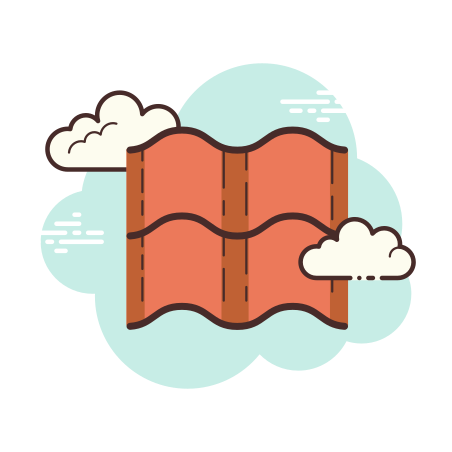 Roof Tiles icon in Cloud
