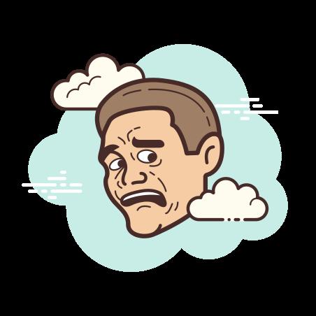 Scared Face Meme icon
