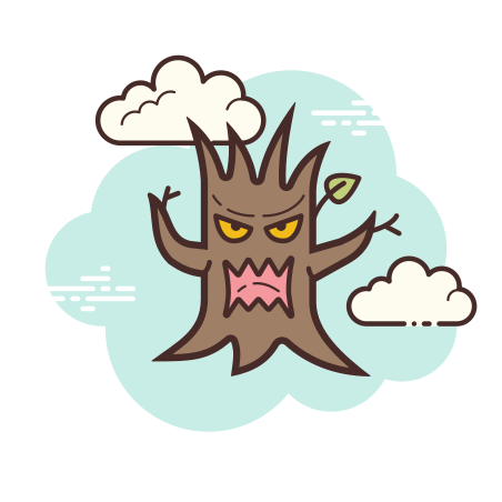 Scary Tree icon in Cloud