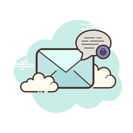 Secured Letter icon in Cloud