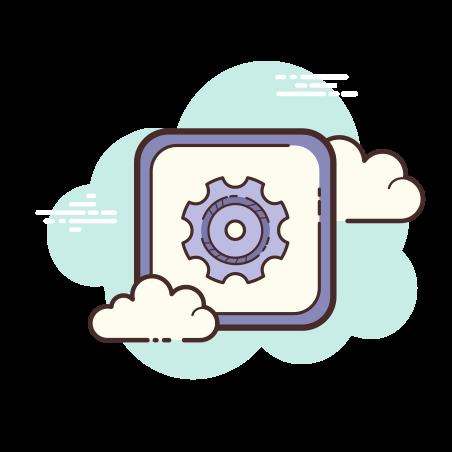 Settings icon in Cloud