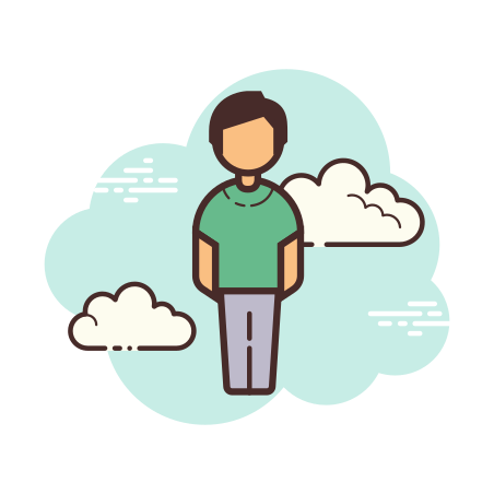 Standing Man icon in Cloud