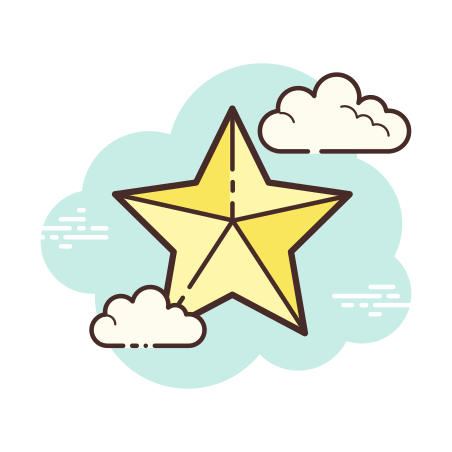 Star icon in Cloud