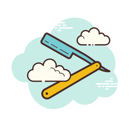 Straight Razor icon in Cloud