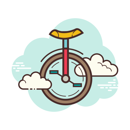 Unicycle icon in Cloud