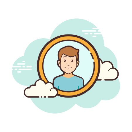 Male User icon in Cloud