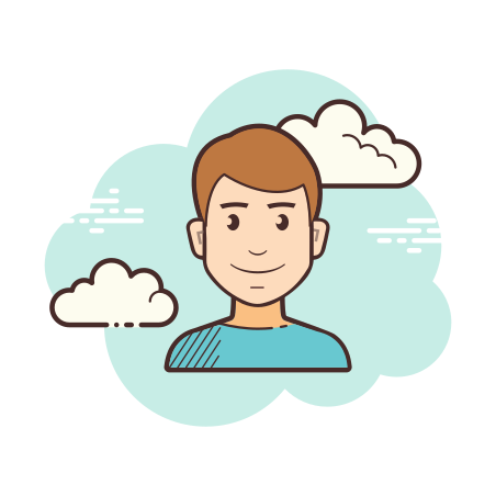User Male icon in Cloud