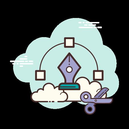 Vector icon in Cloud