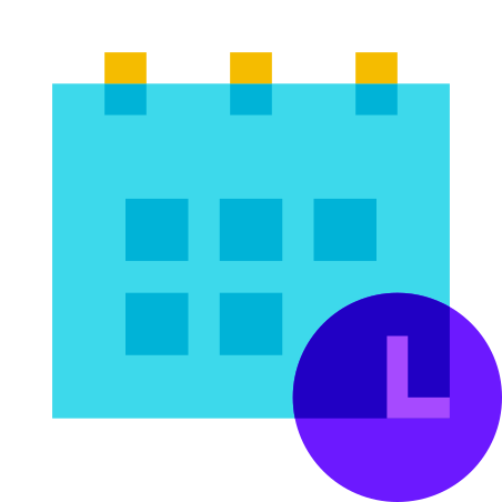 Schedule icon in Color Glass