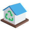 Centrum recyklingu 3D icon