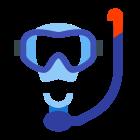 Máscara com snorkel icon