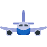 Airplane Front View icon