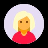 Użytkownik Kobieta w kółku Skóra Typ 3 icon