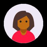 Użytkownik Kobieta w kółku Skóra Typ 6 icon