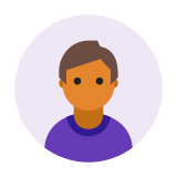 Circled User Male Skin Type 5 icon
