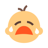 Angry Baby Emoticon icon