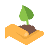 Hand With a Plant icon