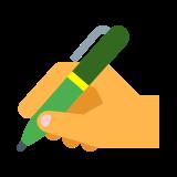 Ręka z piórem icon