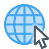 Globe With Cursor icon