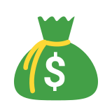 Money Bag Outline icon