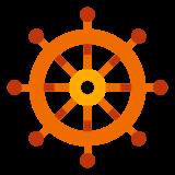 Koło sterowe statku icon