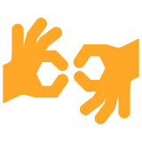 Hands Making Sign Language icon