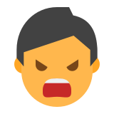 Angry Male Emoticon icon