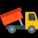 LKW beim Entladen icon
