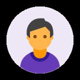 Mężczyzna Użytkownik w kółku icon