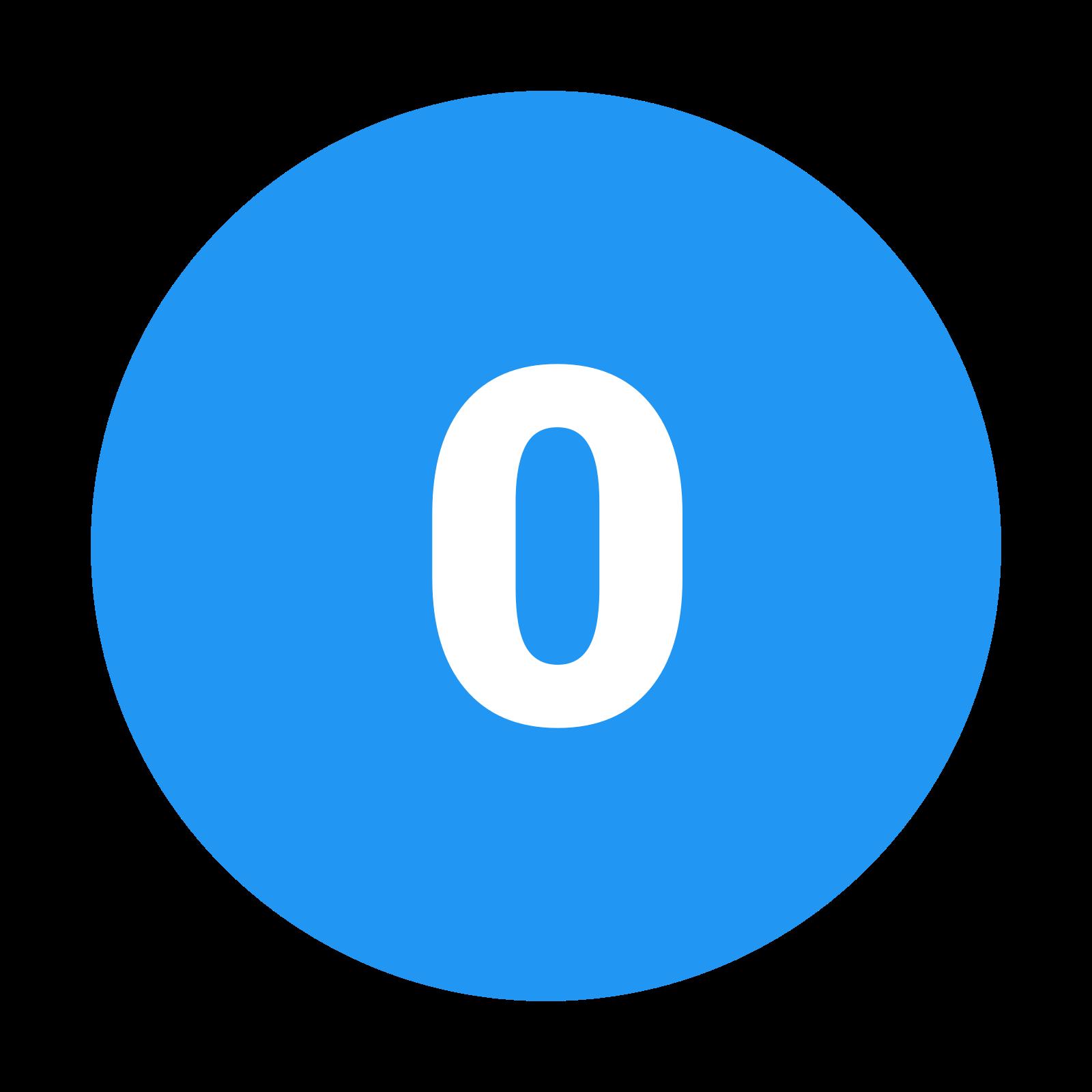 Circled 0 C icon