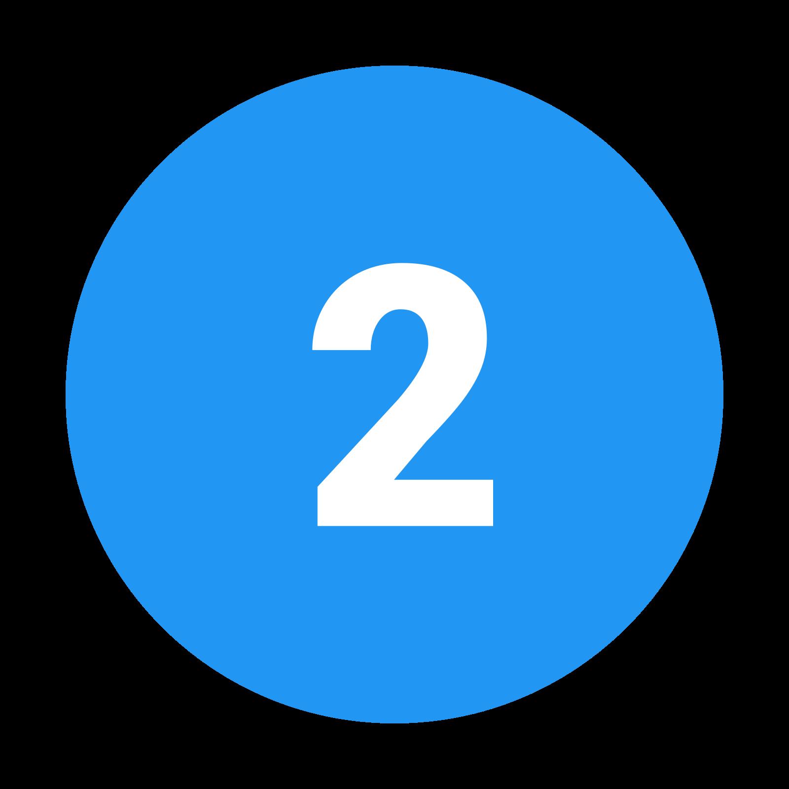 2 C w kółku icon