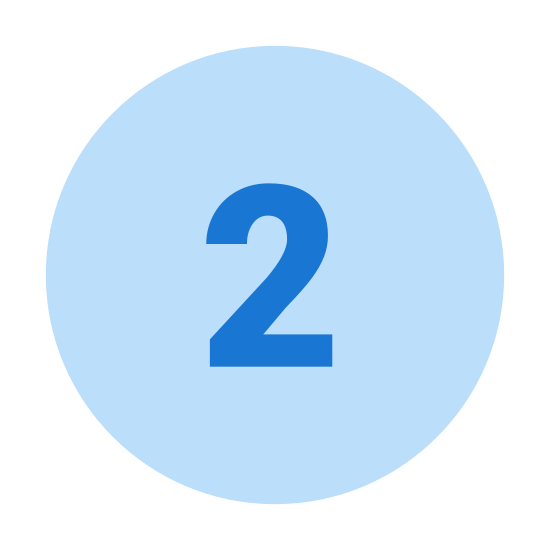 Circled 2 icon. This is a picture of the number two. The number two has been circled with a circle that is about a half an inch away from the number in all directions.