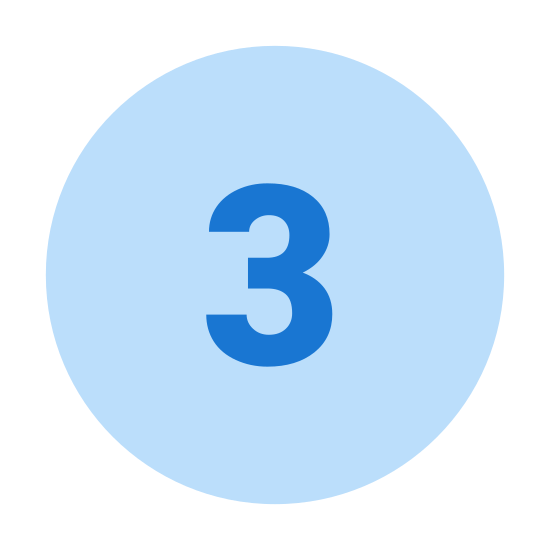 3 w kółku icon. This is an image of the number three sitting in the middle of a circle shape.   There is nothing else in the image.  It might also look like the three ball from a game of pool or billiards but is more simply a three with a circle around it.