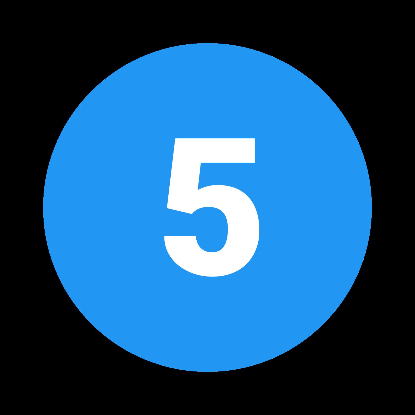 Circled 5 C icon