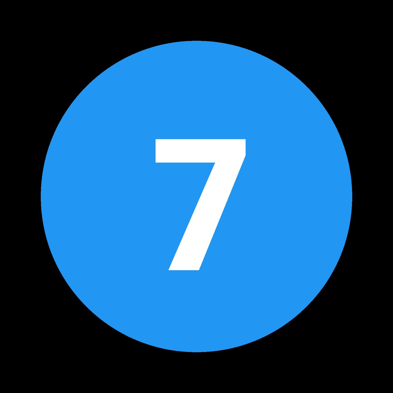 eingekreiste 7 c icon kostenloser download png und vektorgrafik