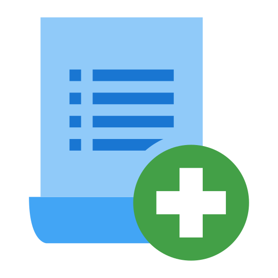 Create Document icon. It's a icon for you to Add a rule which is a picie of paper with a plus mark. If you need to add a rule this is the button/icon you would go to.