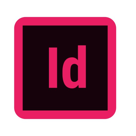 """Adobe Indesign icon. The adobe indesign icon, what looks like a keyboard key with the letters """"id"""" transcribed on the side. Other than that it's an unremarkable square with letters inside."""