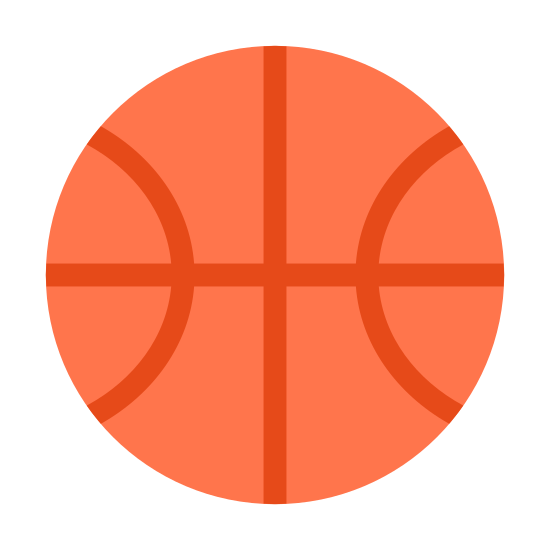 Баскетбольный мяч icon. This is a very simple icon of a basketball. It's made of a medium sized circle with curved lines running through the middle. These lines are curved in such a clever fashion that they clearly show the center of the ball belling out due to the air inside of it.