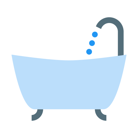 Bath icon. This can be described as a large alphabet U whose edges have a small curve pointed towards outside on both edges and have small rectangular bar placed on top of it whose length is exactly equal to the width of the alphabet U. Also there are two small curved lines underneath the alphabet U with right one bend towards east or right and left one bend towards west or left.