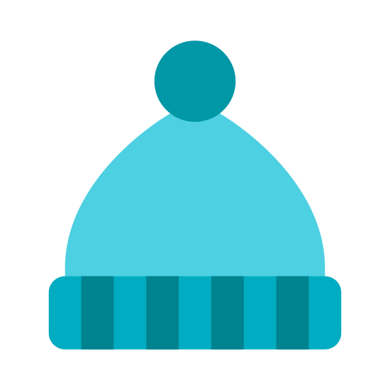 Beanie icon. The icon is a picture of the logo for Beanie. The icon honestly looks a lot like Santa's hat. The icon is basically an outdoor snow cap facing upwright, with a tiny ball on the end like a bunnies tail.