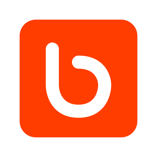 """Bebo icon. There is a square with curved edges.  Inside this curved square, there is the outline of a lower case letter """"b"""" placed inside, directly in the center of the square."""