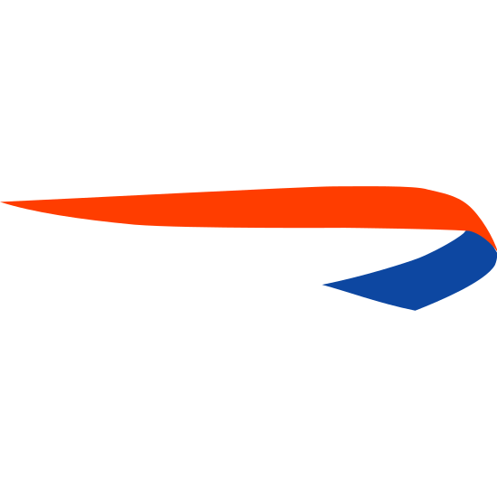 British Airways icon. It's a logo of the British Airways reduced to a small simple ribbon. The ribbon looks like a cane if it were left laying down horizontally. The ribbon looks a little flimsy as well.