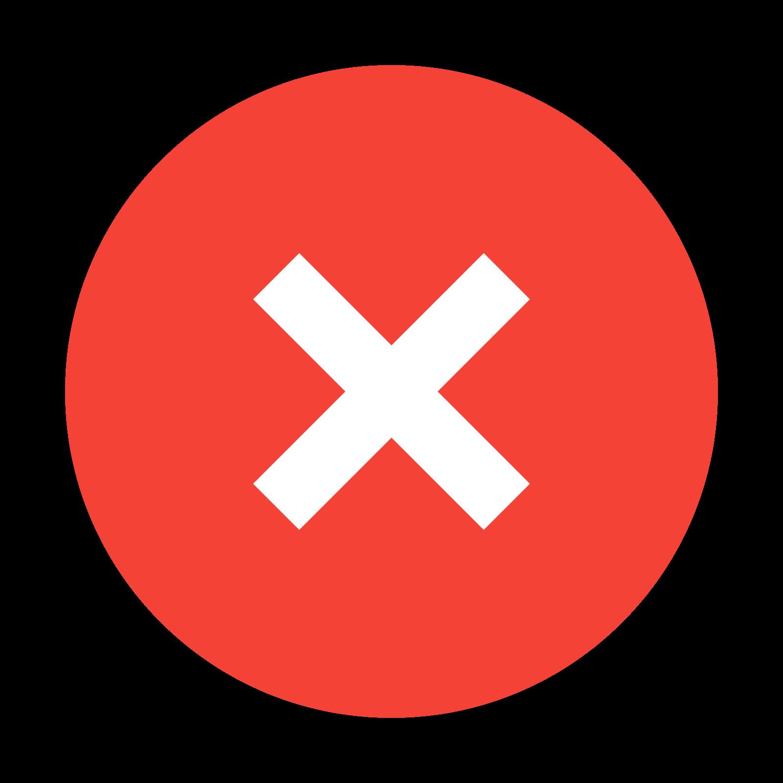 取消 icon. The icon is a common symbol for expressing denial of permission. It consists of a circle with a large X in the center of it, symbolizing the cancellation of an already-running action.