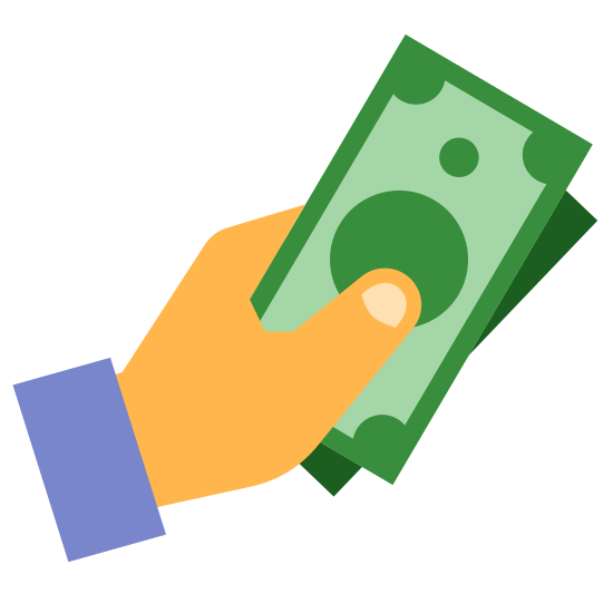 cash in hand icon free download png and vector